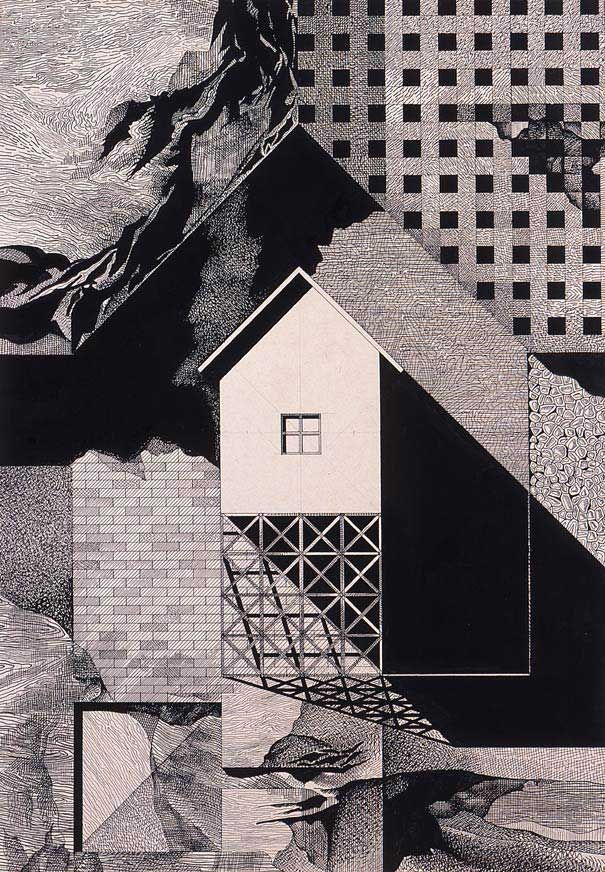 Franco purini genius of architectural illustrations the for Paper for architectural drawings