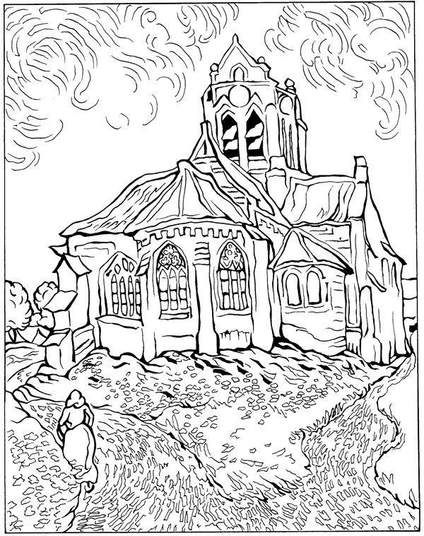 coloring page vincent van gogh kids n fun - Sunflower Coloring Page Van Gogh