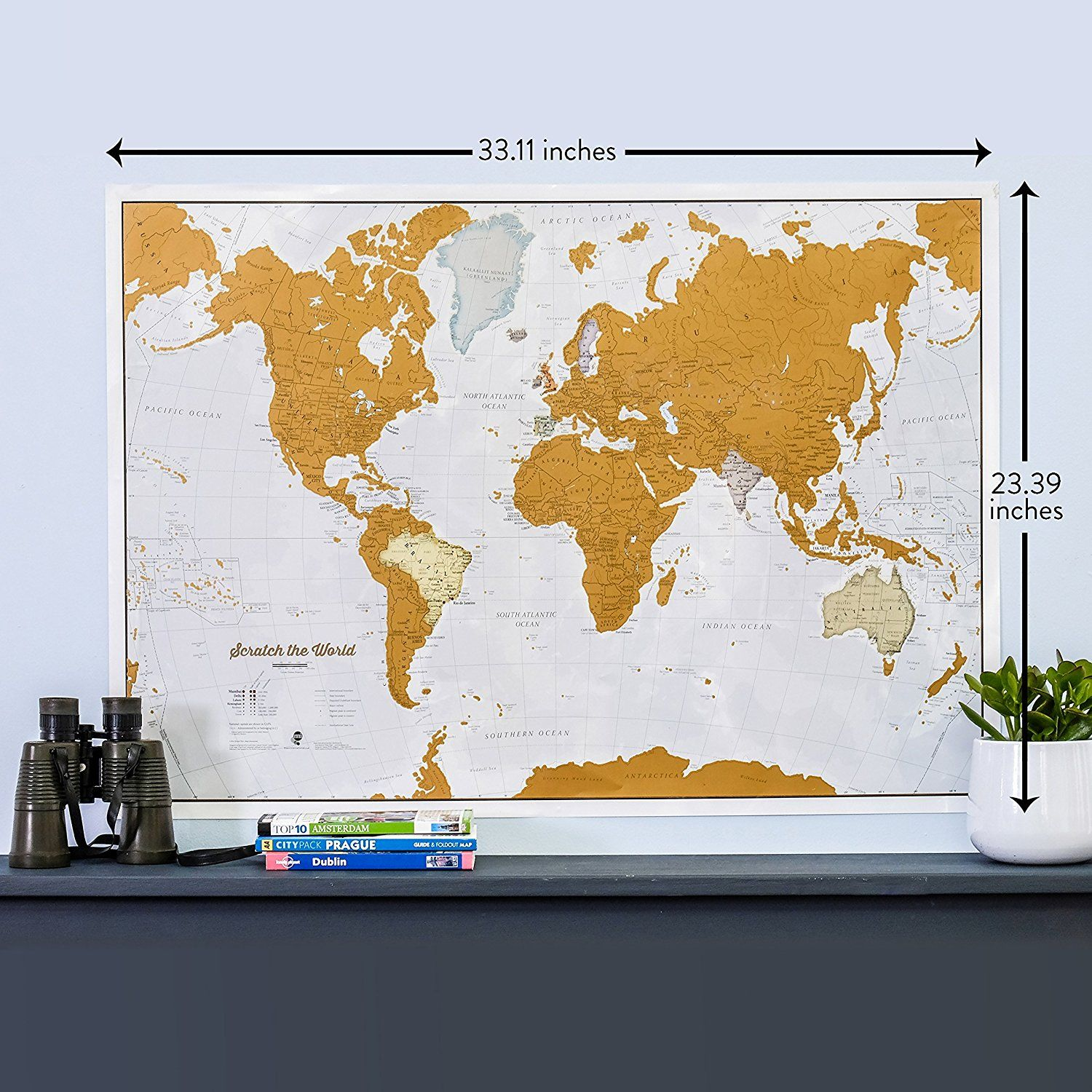 Amazon scratch the world scratch off places you travel amazon scratch the world scratch off places you travel world map gumiabroncs Choice Image
