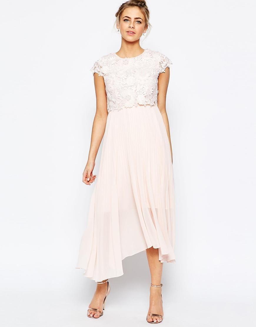 Coast | Coast Darianna Midi Dress with 3D Texture Lace at ASOS ...