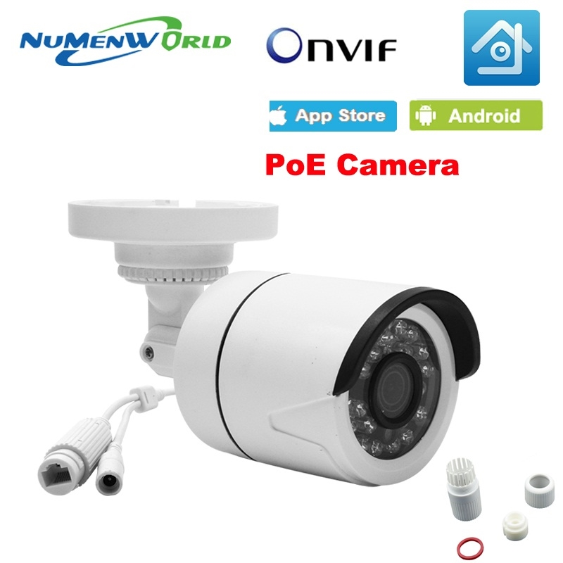 29.88$  Buy here - http://ali20d.shopchina.info/go.php?t=32761274477 - POE IP Camera 720P 960P 1080P HD Outdoor Bullet Cam IR NightVision CCTV Security Camera Onvif P2P Android iPhone XMEye View  #aliexpresschina