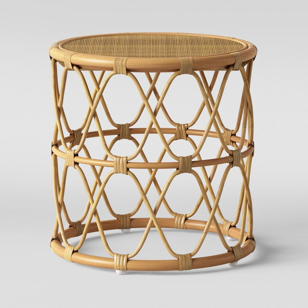 Jewel Round Side Table Natural Opalhouse Round Side Table Rattan Side Table Side Table [ 1000 x 1000 Pixel ]