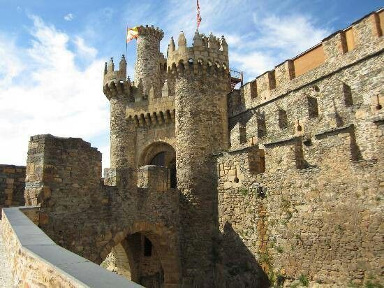 Castle of The Knights Templar in Spain
