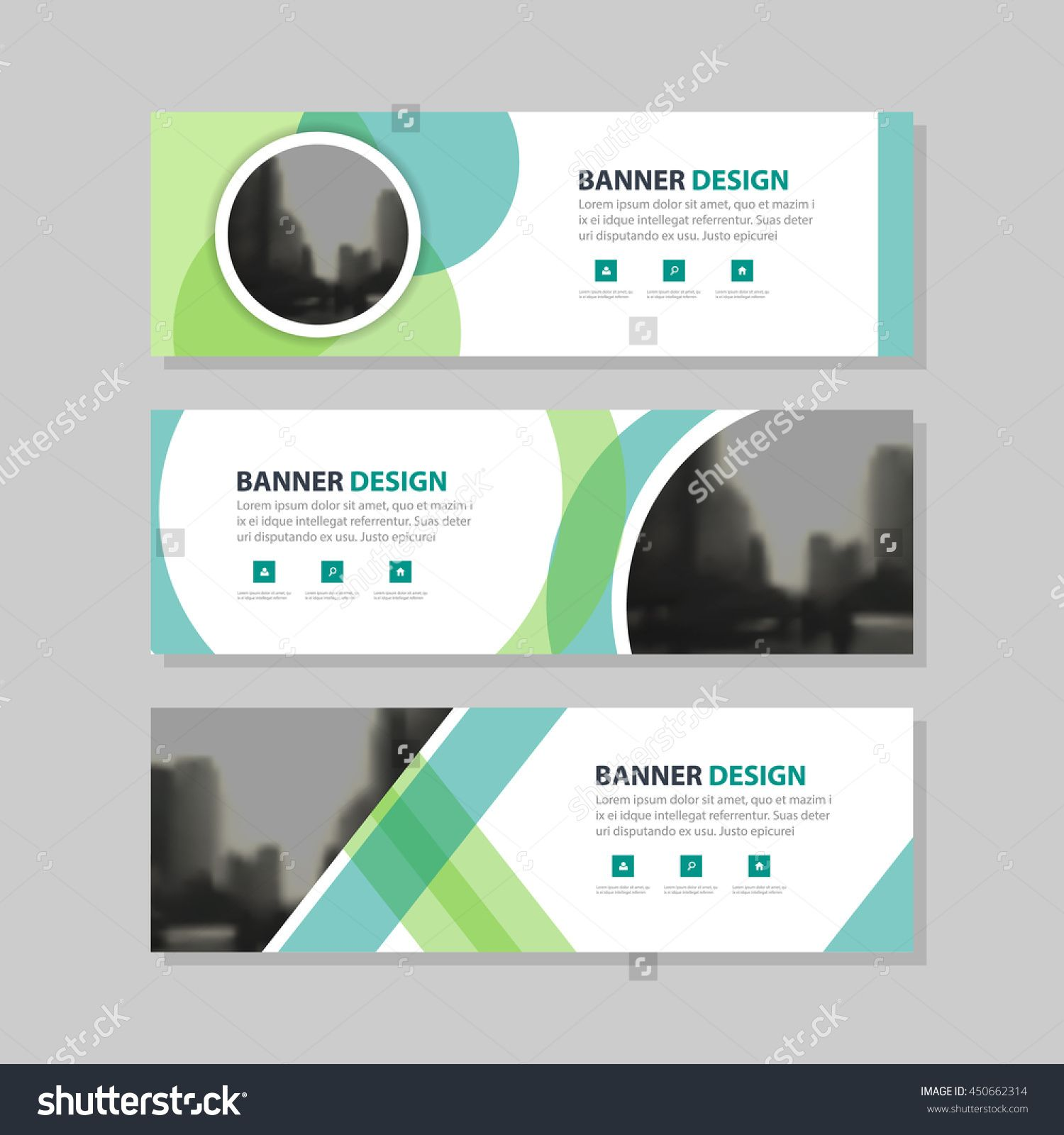 Eco Green Abstract Circle Corporate Business Banner