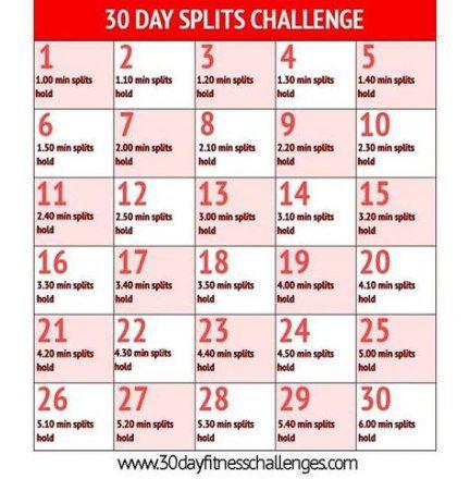 Fitness Challenge Flexibility The Splits 25 Trendy Ideas #fitness