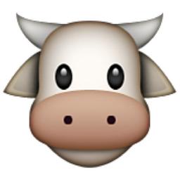 Cow Face Emoji U 1f42e U E52b Cow Emoji Cow Face Emoji