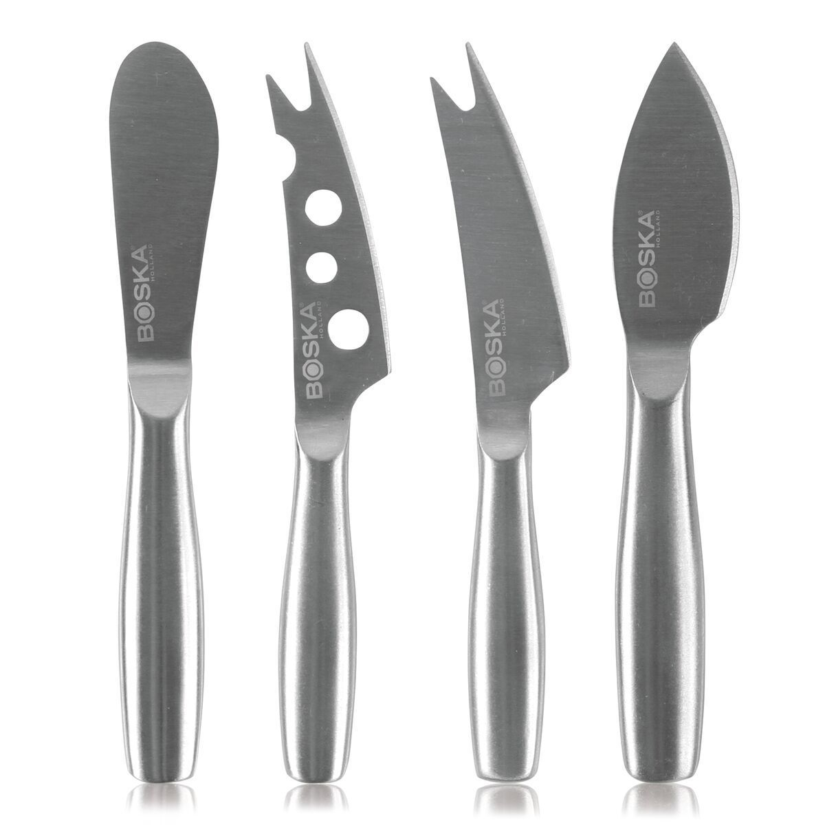 Are you crazy about cheese? Then you need the Cheese Knife Set Mini Copenhagen! You can tackle hard, soft, and spreadable cheeses with this lightweight set. It consists of four stylish stainless steel knives. You'll be able to plate up something for everyone on your cheese board with these knives. Dream team Are you craving a soft or semi-hard cheese? The Cheese Knife Cheesy Mini will get the job done. But you can also cut up hard to very hard cheeses. In that case, call on the Hard Cheese Knife