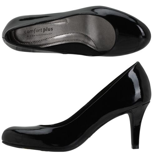 54c09561a34 Comfort Plus by Predictions - Women s Karmen Pump - Payless Shoes in Black  Patent original is 24.99
