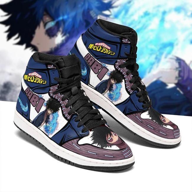 Dabi Jordan Sneakers Custom My Hero Academia Anime
