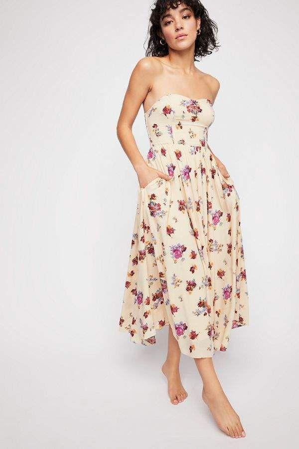 3bde375ac894 Bella Babe Printed Midi Dress in 2019 | Casual dress | Floral midi ...