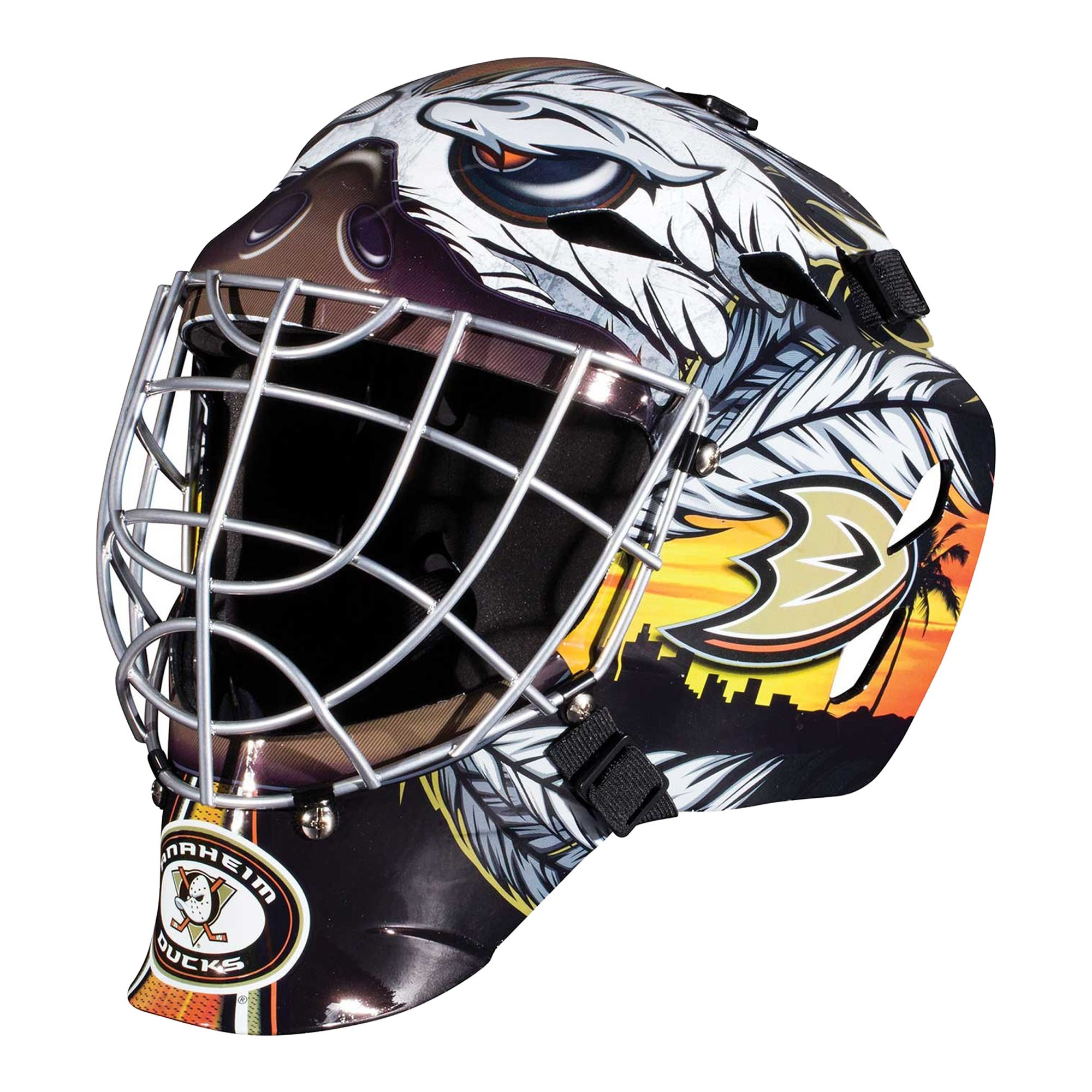Nhl Anaheim Ducks Replica Goalie Mask Street Hockey Franklin Sports Anaheim Ducks