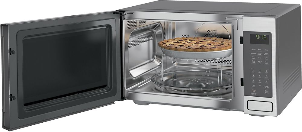 Ge 1 5 Cu Ft Mid Size Microwave Stainless Steel