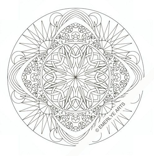 Printable Coloring Page Celestial Mandala Mandala Coloring Pages Coloring Pages Mandala Coloring Books