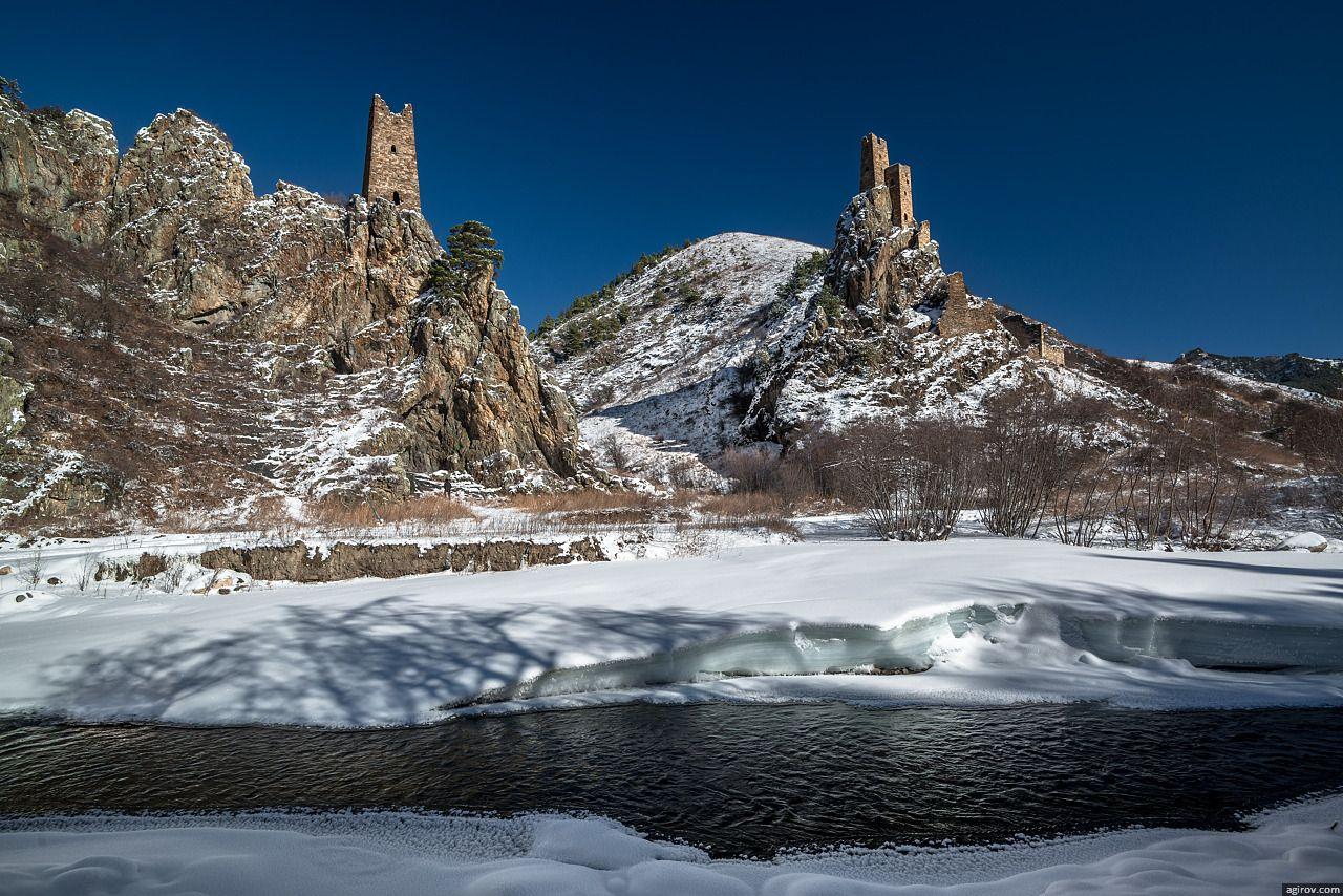Горная Ингушетия. Вовнушки зимой (23 фото, 360° панорамы ...