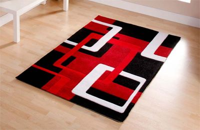 Black And Red Bath Rugs Red Black Rug 60 X 110 Small Acrylic 132