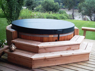 Wood Hot Tubs Classic 6 Person Red Cedar Hot Tub Cedar Tubs