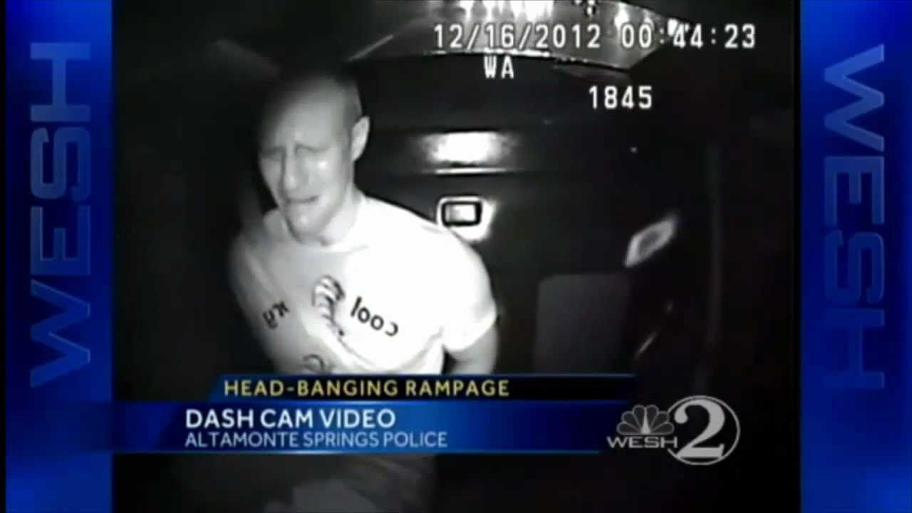 Man Goes on 30 Minute Rampage in Back of Police Car