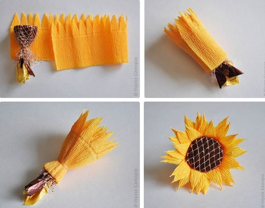 Como fazer girassol de papel