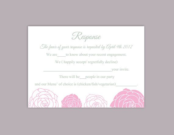 DIY Wedding RSVP Template Editable Word File Instant Download Rsvp   Party  Rsvp Template  Party Rsvp Template