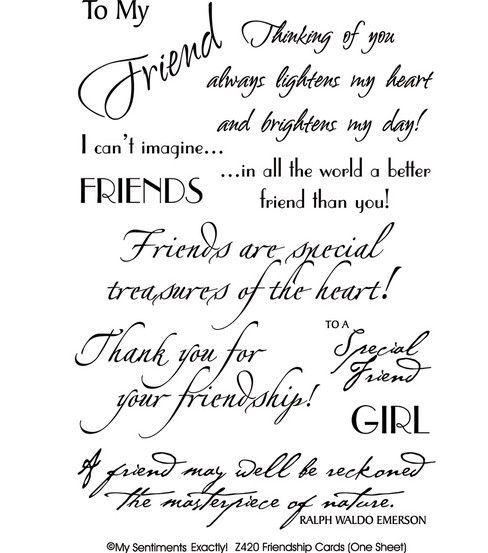 Mse my sentiments rub ons friendship cards rub ons mse my sentiments rub ons friendship cards rub ons scrapbooking m4hsunfo