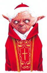 Papa Benedetto XVI caricatura