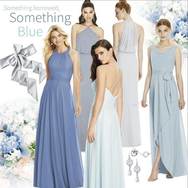 Newport Blue Bridesmaid Dresses