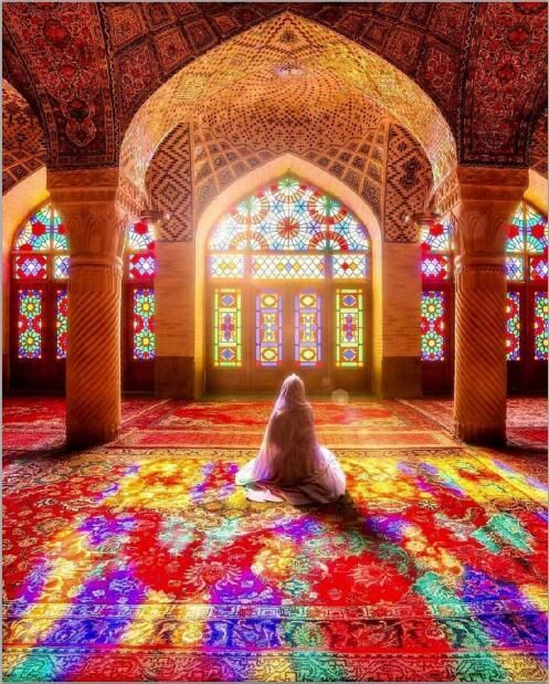 Pin By Adil Taj On Ceiling In 2019: Muslim Woman Praying In Mosque Painting Print On Canvas