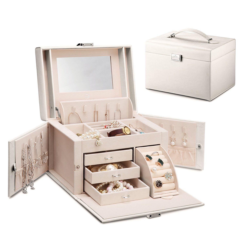 Vlando Simili Cuir Miroir Boite A Bijoux Organiseurs Vintage Cadeau Case W Lock Amazon Fr Cuisine Mai Organisation De Bijoux Coffre A Bijoux Coffret Bijoux