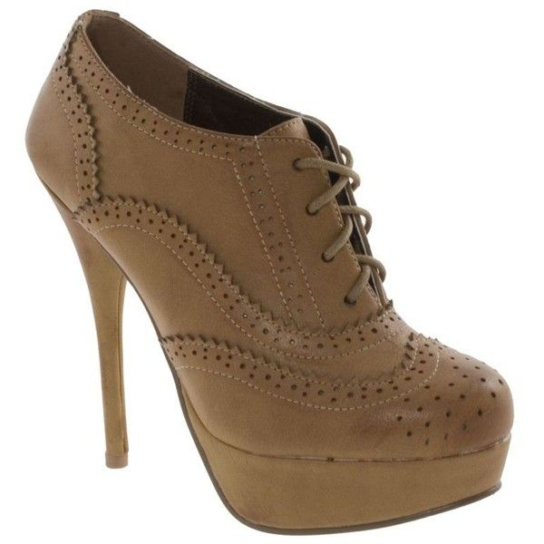 Tan Lace Up High Platform Shoes (€45) ❤ liked on Polyvore featuring shoes, oxfords, sapatos, shoes+women, lace up shoes, laced up shoes, barratts shoes, barratts and tan lace up shoes