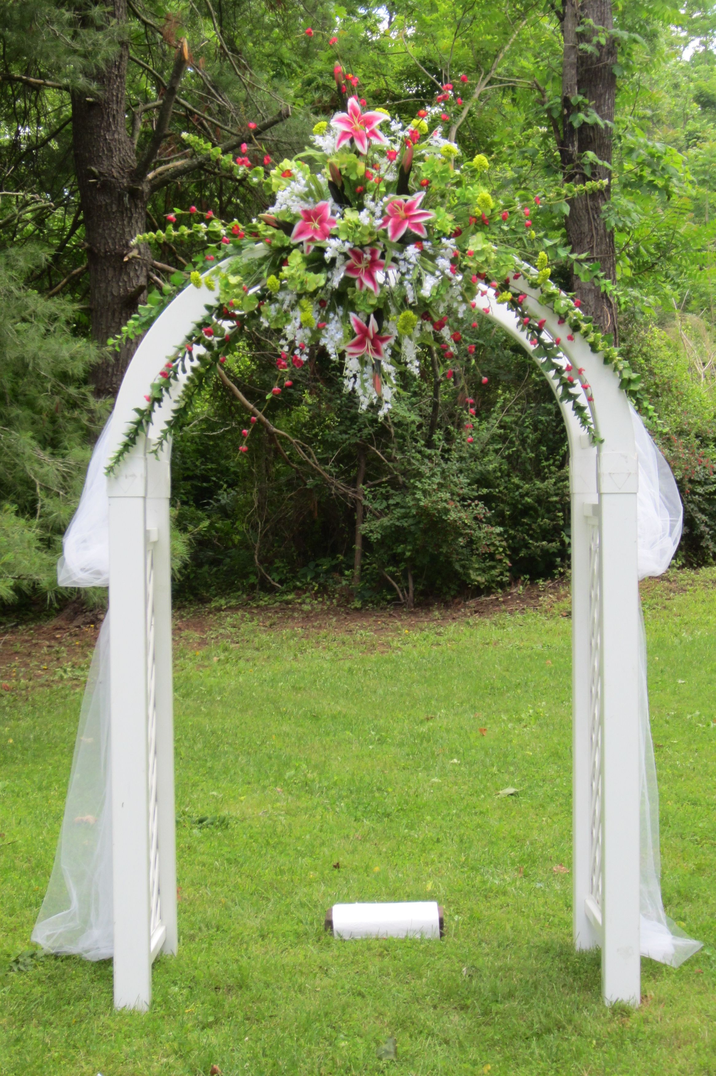 A beautiful Wedding Arch or Arbor Wedding trellis, Birch