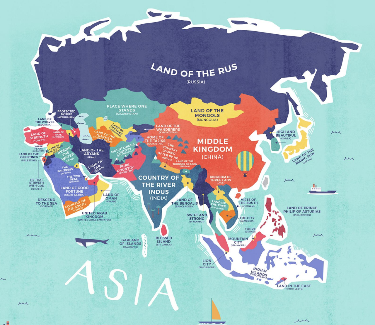 This map shows the literal meaning of every country\'s name | Hmmm ...