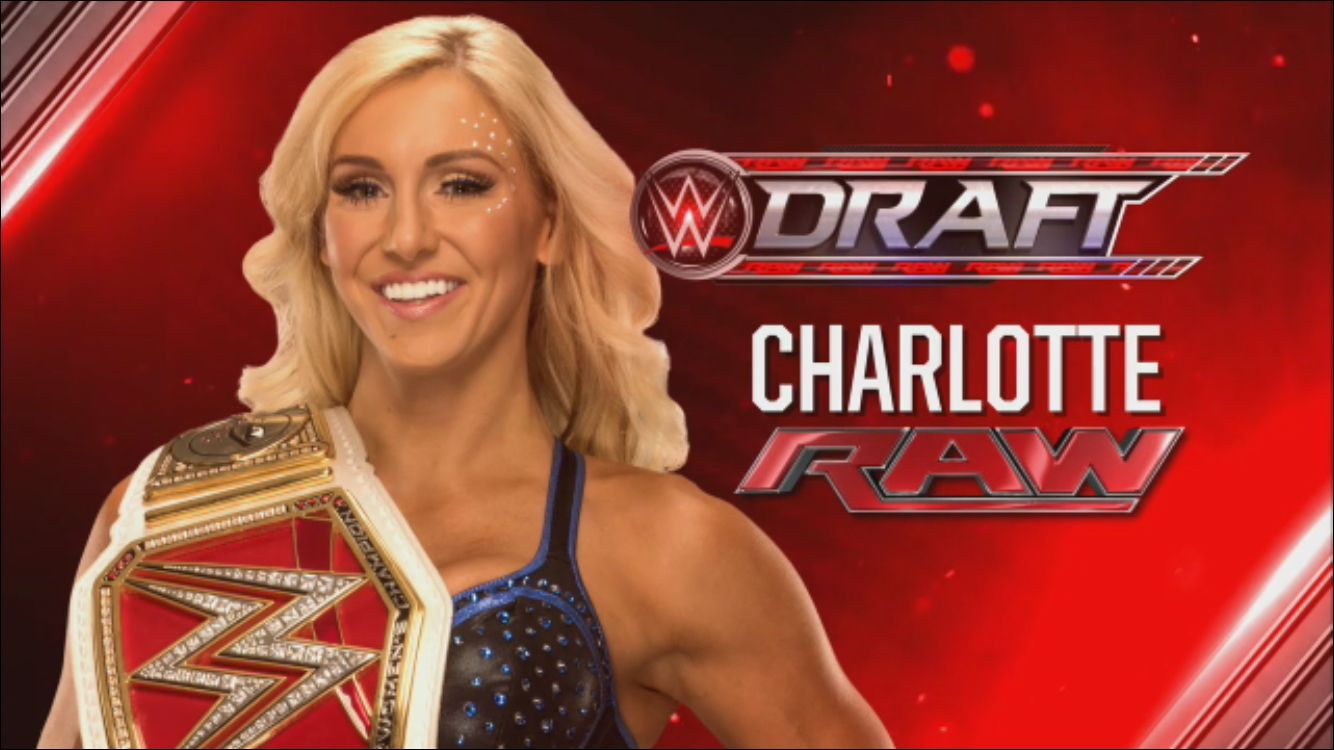 Charlotte was drafted to RAW
