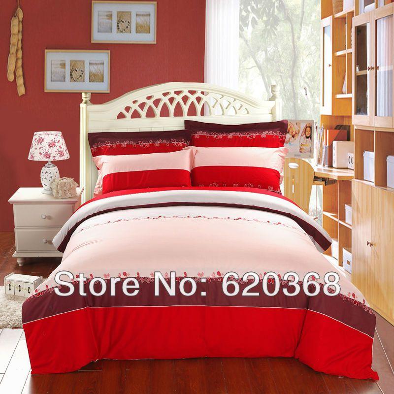 Home textiles,100% cotton embroidered bedding set,pink bed set,bed sheet set,bedspread,bedclothes,bedding sheet,duvet cover set $93.00 - 95.00