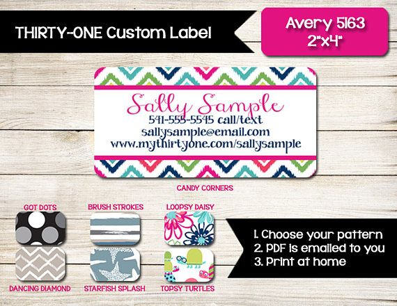 Thirty-One Catalog and Order Form Custom Labels Why waste money on ...
