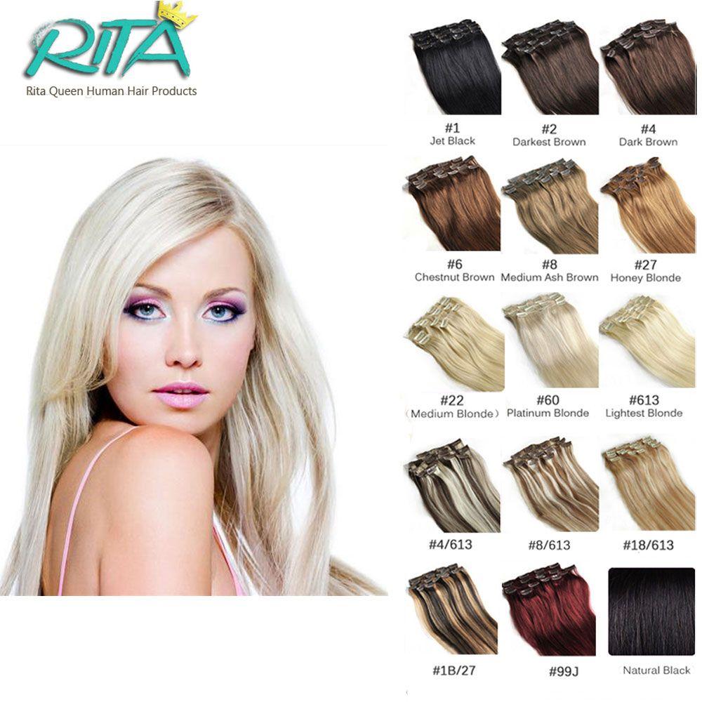 Clip In Virgin Hair Brazilian Straight Hair Clip In Human Hair