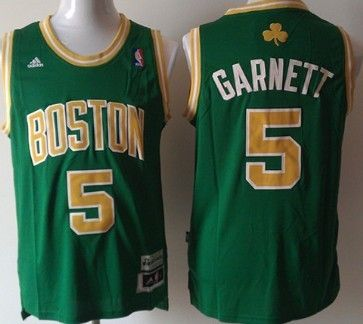 Boston Celtics #5 Kevin Garnett Revolution 30 Swingman Green With Gold  Jersey. RevolutionBoston CelticsGoldGrünNba