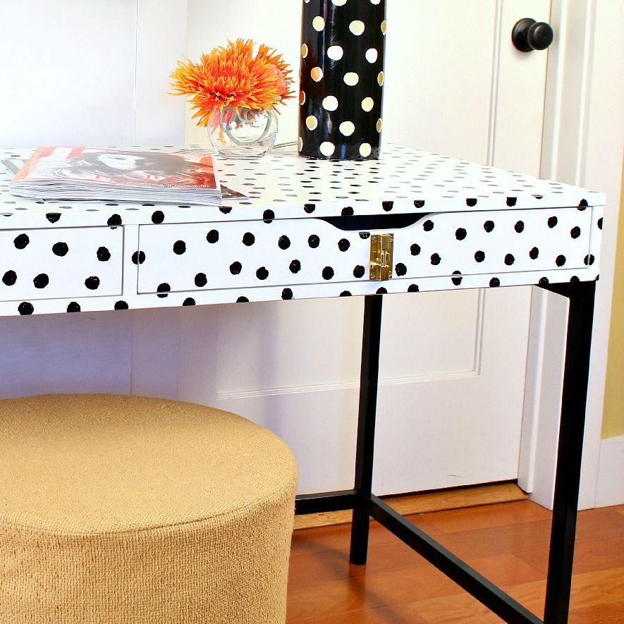 Ikea hack schreibtisch  Turn the Alex desk into the perfect Kate Spade desk with a little ...