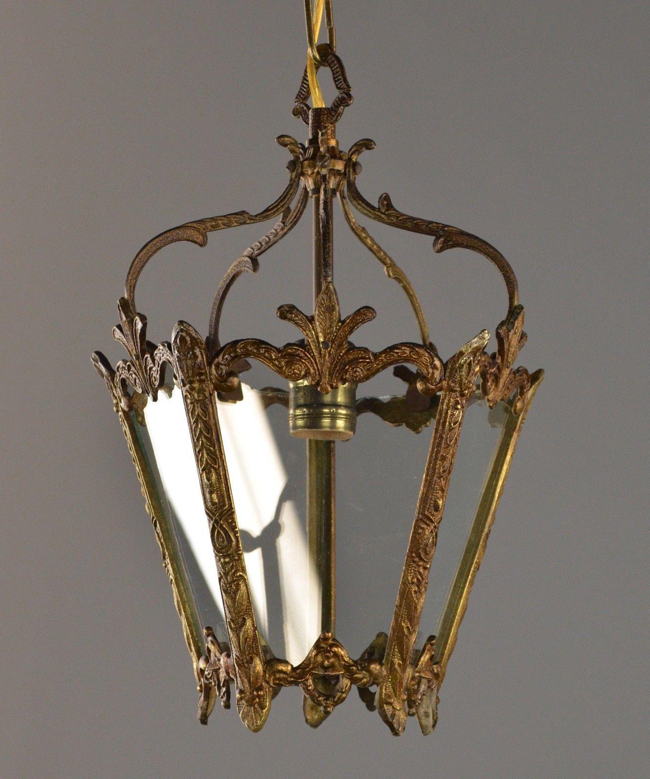 Antique Chandelier Lantern Pendant Light Restored