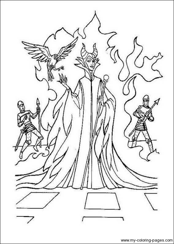 Maleficent Coloring Pages Pinterest Maleficent