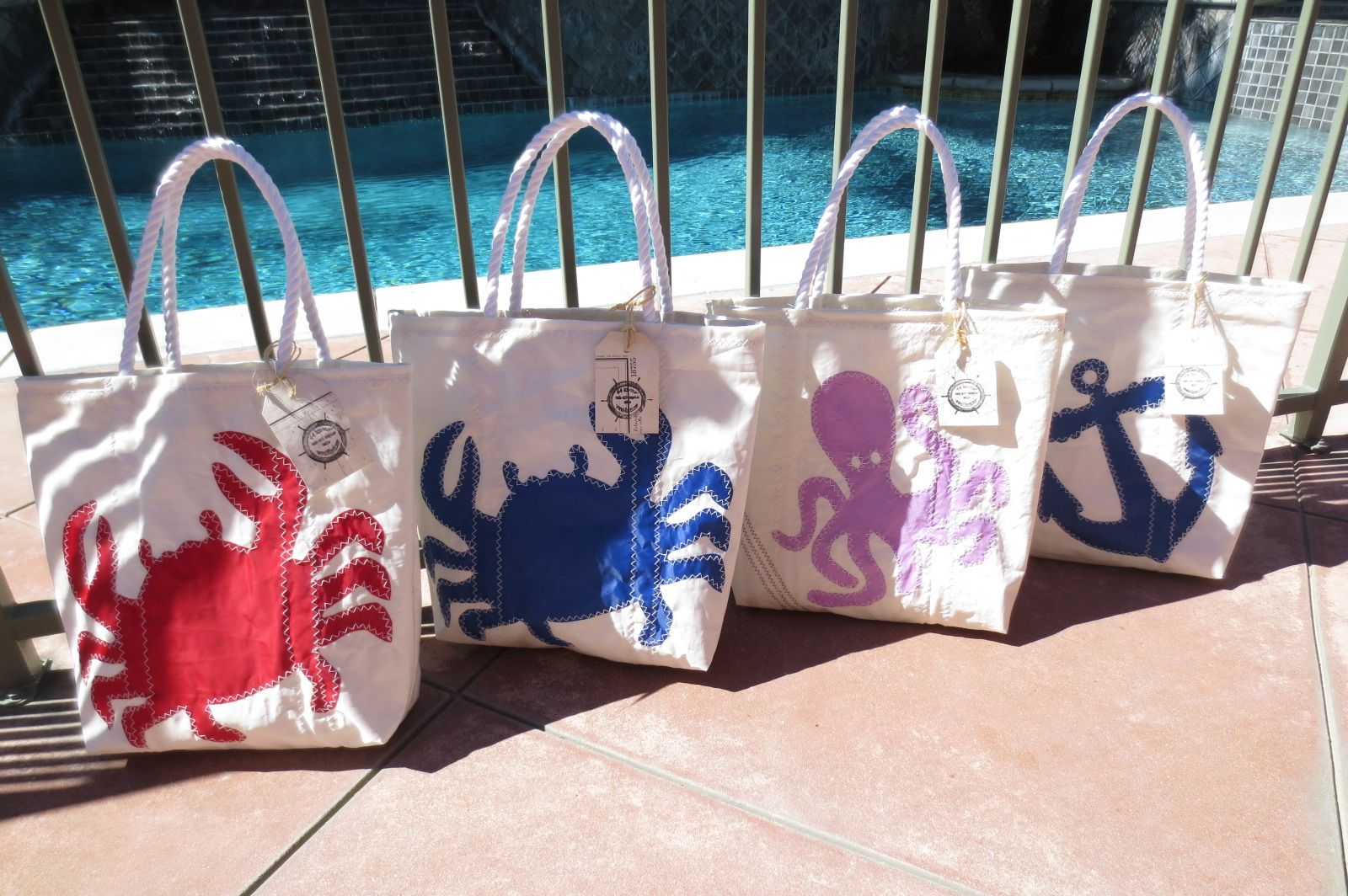 44 Knots Recycled Sailcloth Beach Totes