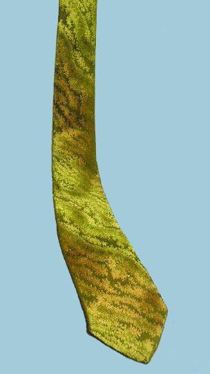 Iridescent woven Silk tie made for Furstman & Feinburg, Dover, NJ. 1950s. My collection.