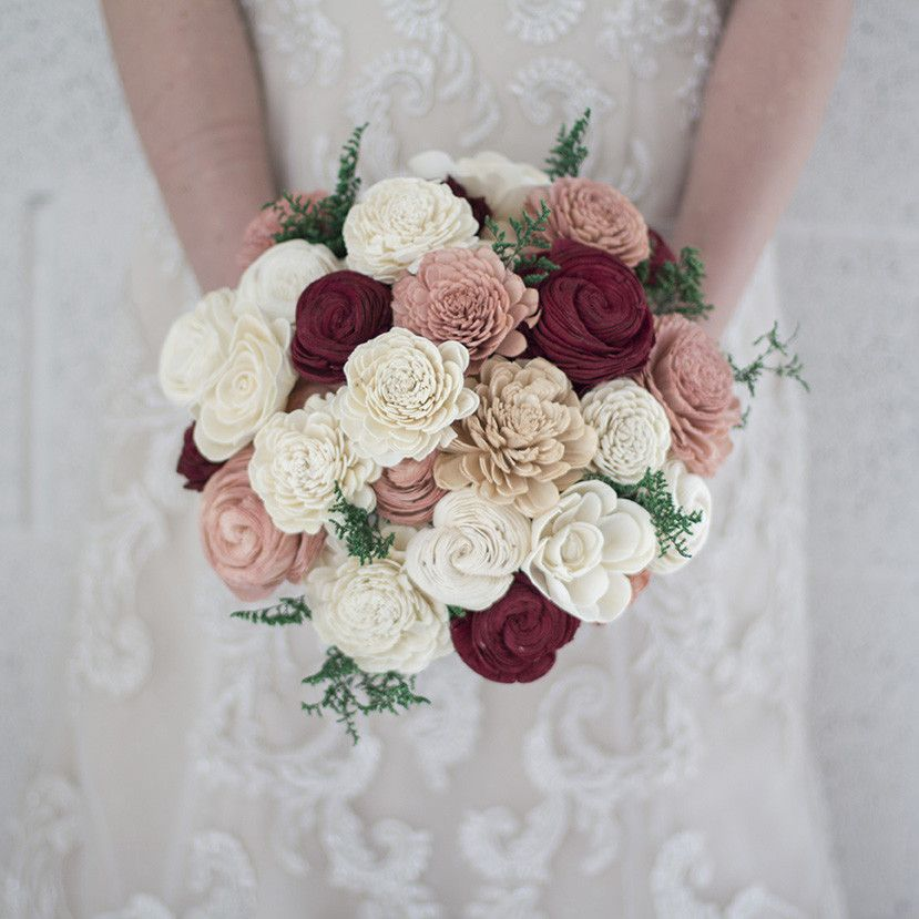 Three Color Bridal Bouquet - A stunning 40 flower bouquet created ...