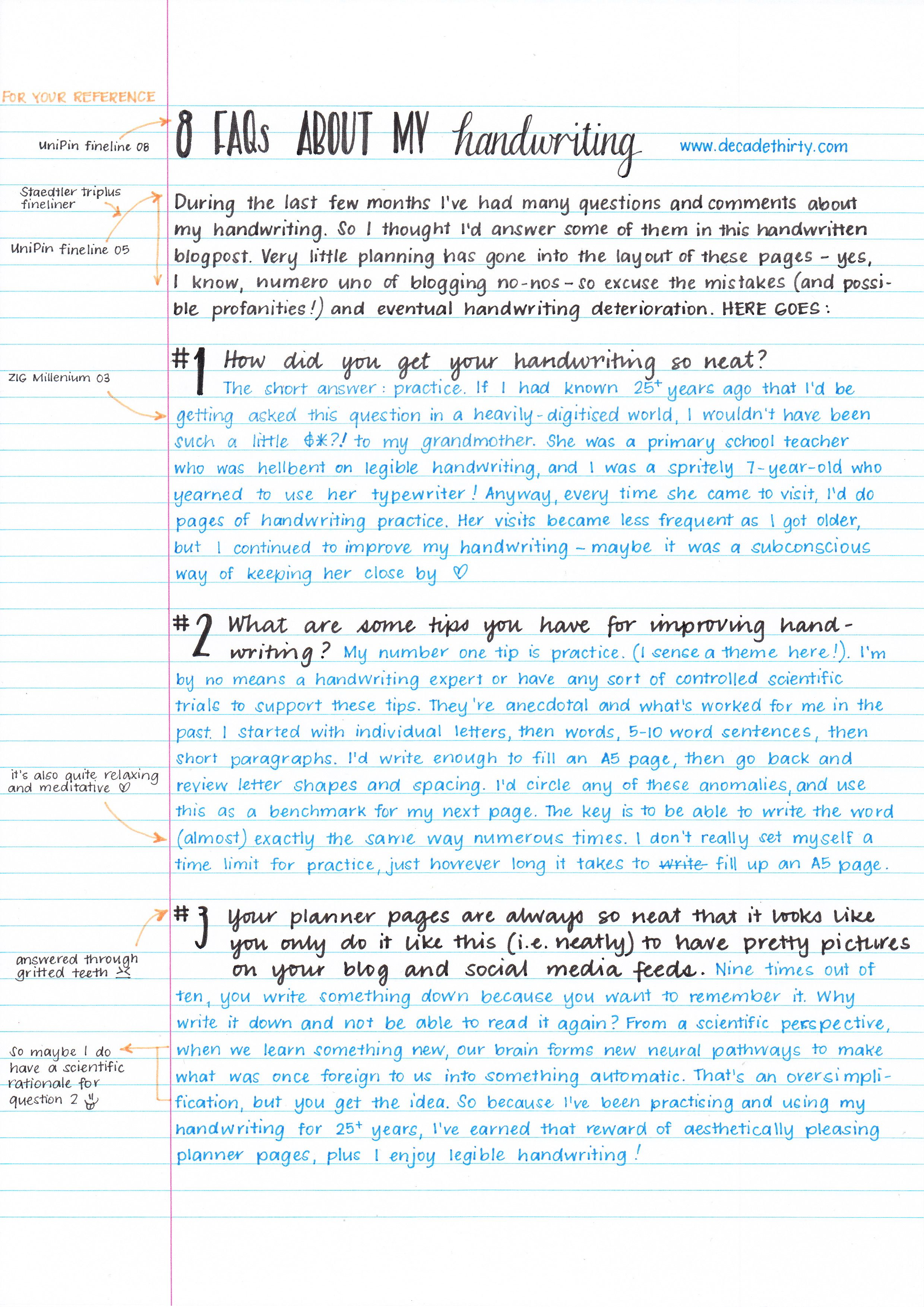 Handwriting Practice Pages And This Blogger Has A Lot Of