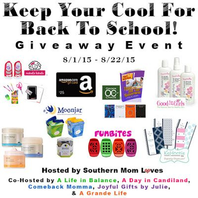 Just the Stuff Ya Know: Giveaway: Keep Your Cool For Back To School Event