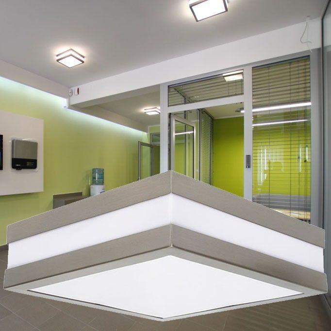 Details Zu Außen Decken Lampe Fassaden Terrassen Haus Tür Chrom Leuchte  Quadratisch IP44