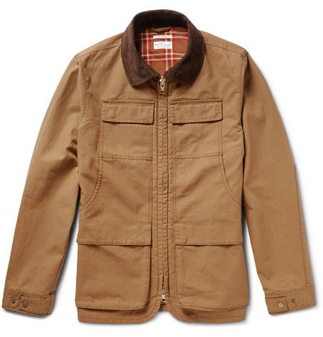 7ea4ed238b2 Gant Rugger Corduroy-Trimmed Cotton-Canvas Field Jacket ...