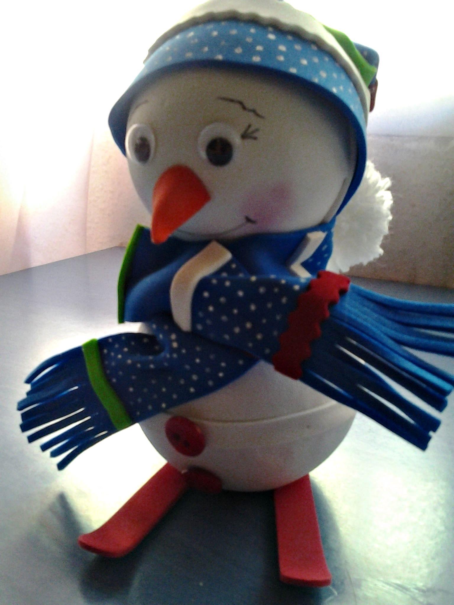 Pepito el muñeco de nieve en goma eva