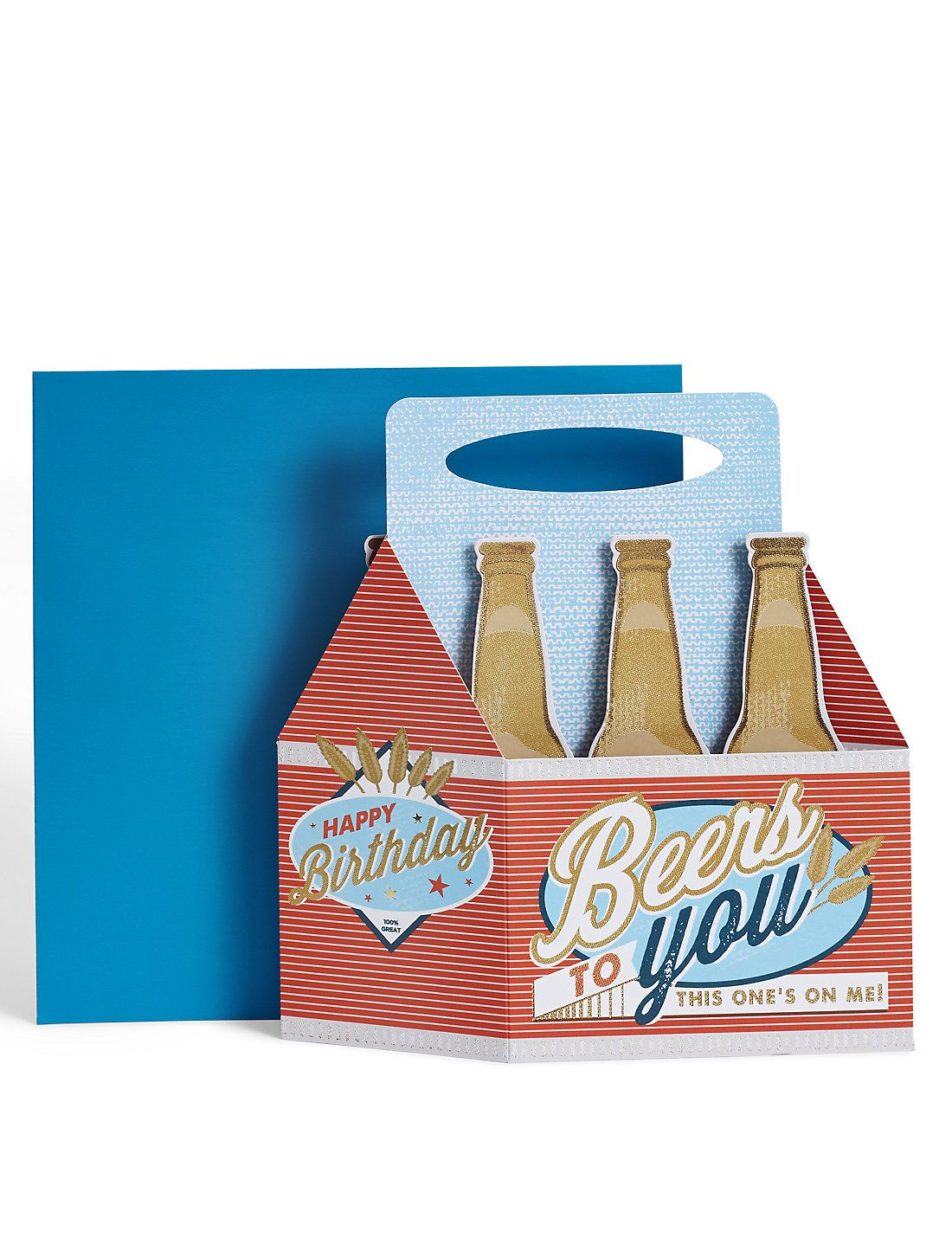 D pop up beer crate birthday card card in a box pinterest