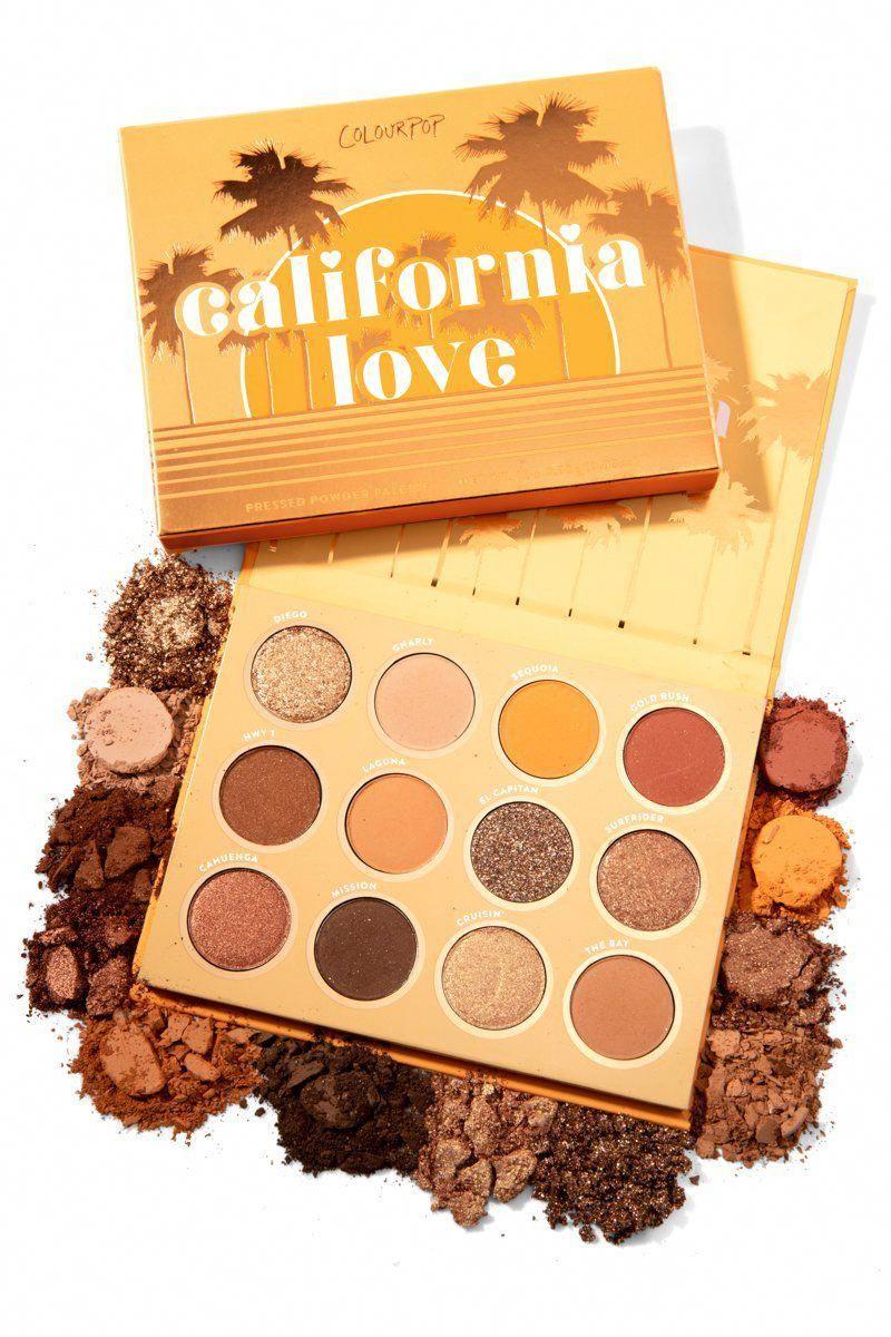 California Love Warm Golden Bronze Eyeshadow Palette