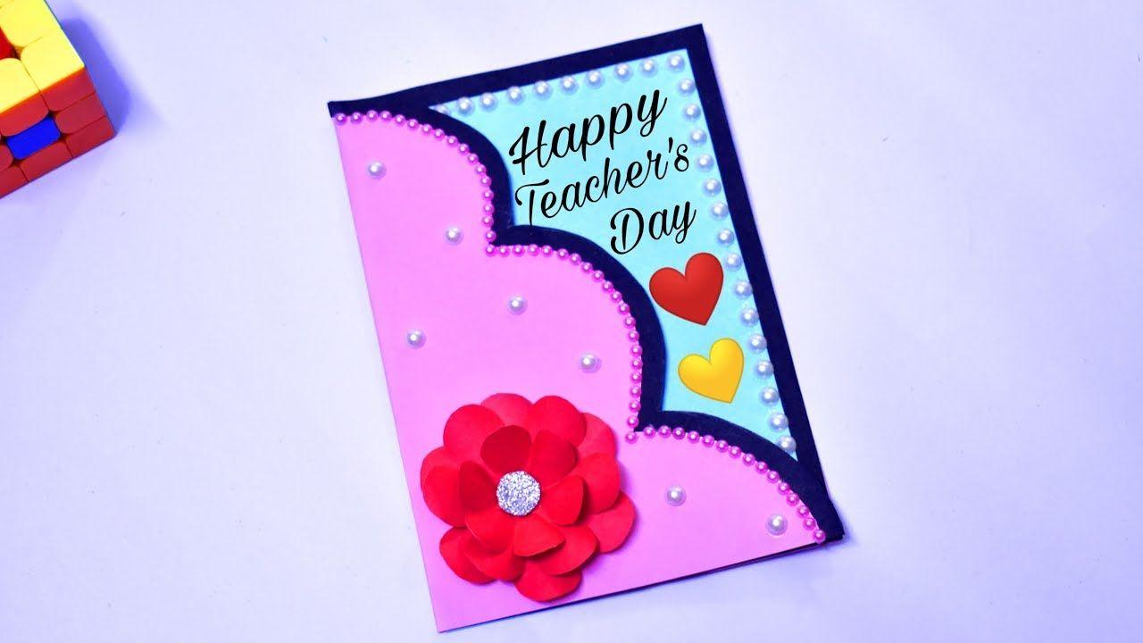 2019 diy teachers day card handmade gift for teacher